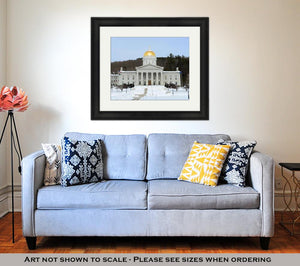 Framed Print, Capitol Building Vermont State House Montpelier