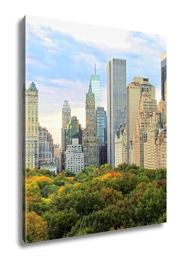 Gallery Wrapped Canvas, Manhattan Skyline And Central Park NYC
