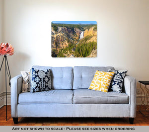 Metal Panel Print, Lower Falls Of The Grand Canyon Yellowstone National Park