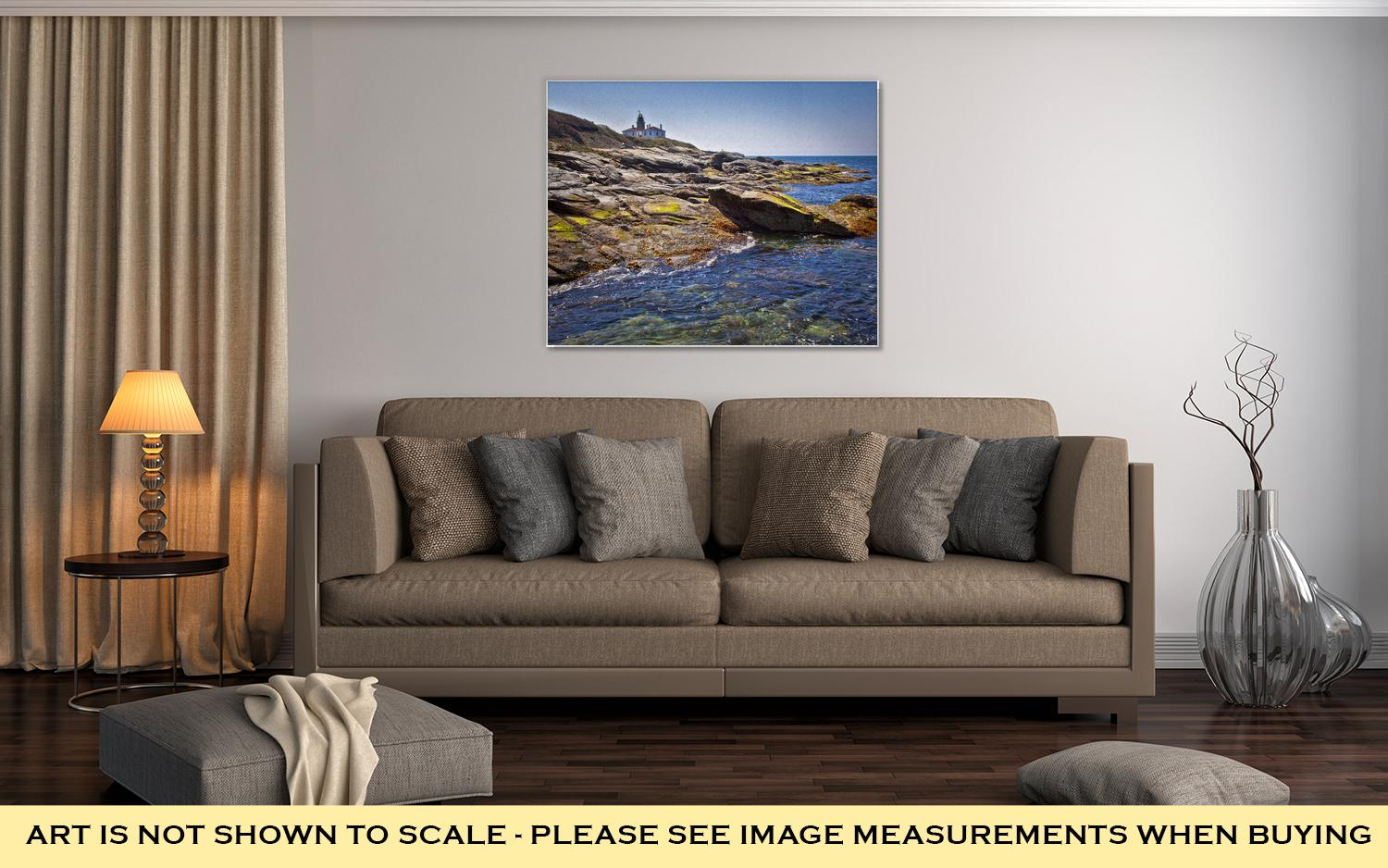 Gallery Wrapped Canvas, Beavertail Lighthouse In Newport