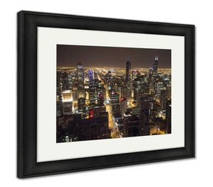 Framed Print, Chicago Downtown From 95th Floor