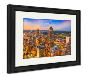 Framed Print, Atlanta Georgia USA Skyline