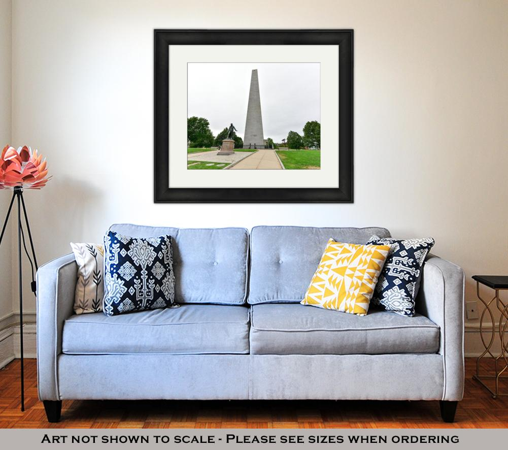 Framed Print, Bunker Hill Monument Boston Massachusetts