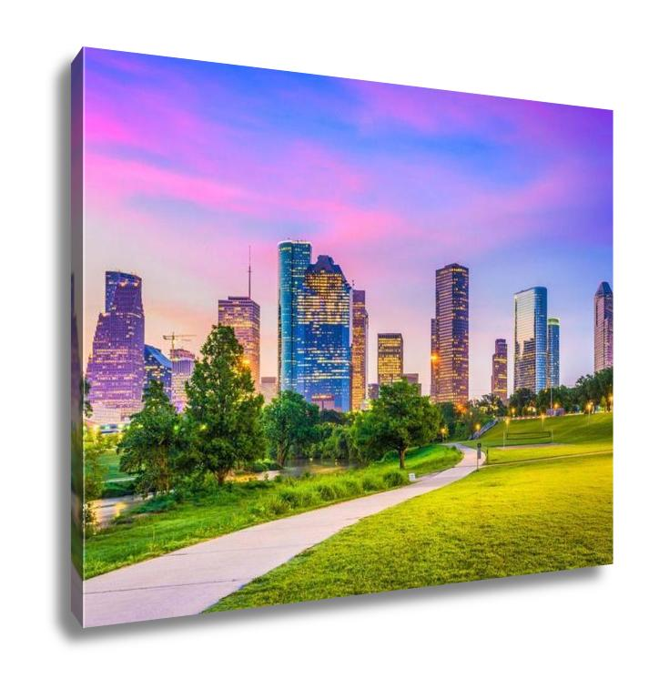 Gallery Wrapped Canvas, Houston Texas USA Downtown City Skyline