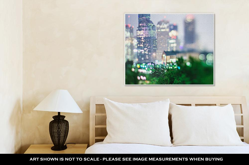 Gallery Wrapped Canvas, City Of Houston Texas Downtown Skyline