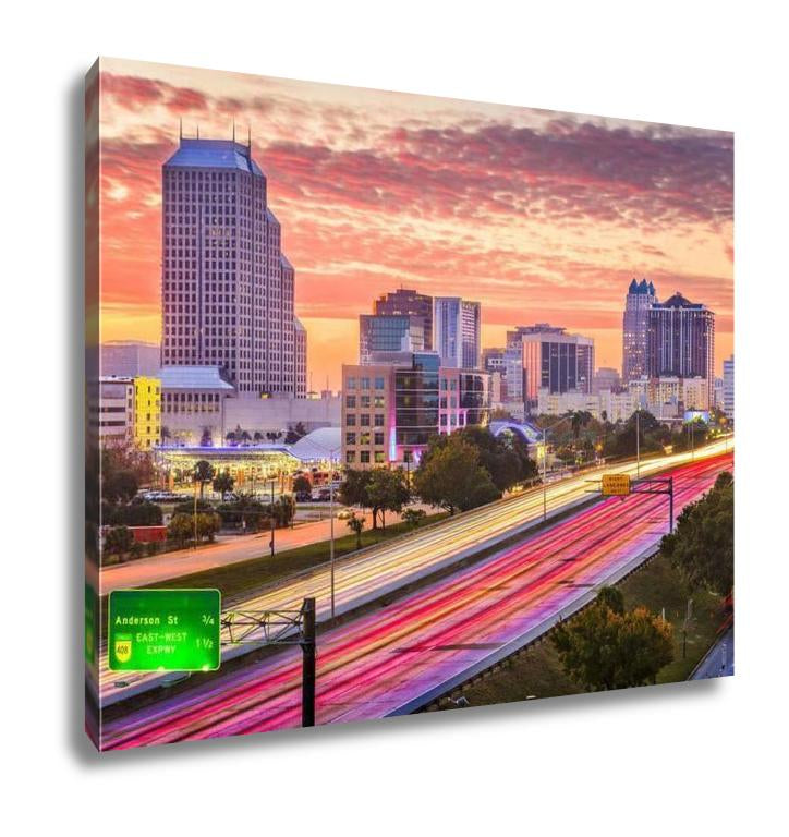 Gallery Wrapped Canvas, Orlando Florida Downtown