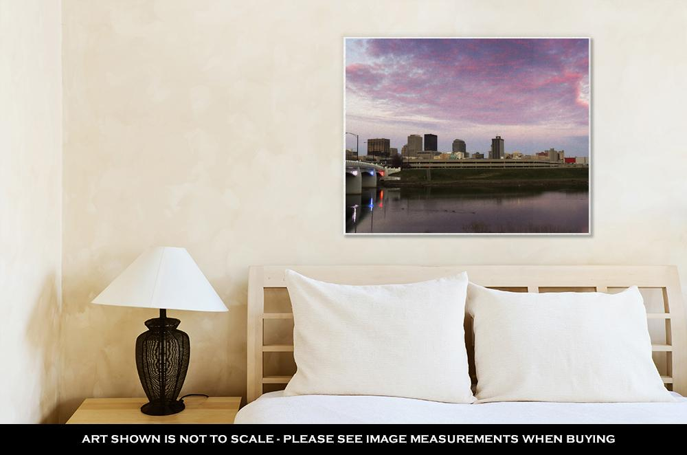 Gallery Wrapped Canvas, Sunset In Dayton Ohio Dayton Ohio USA
