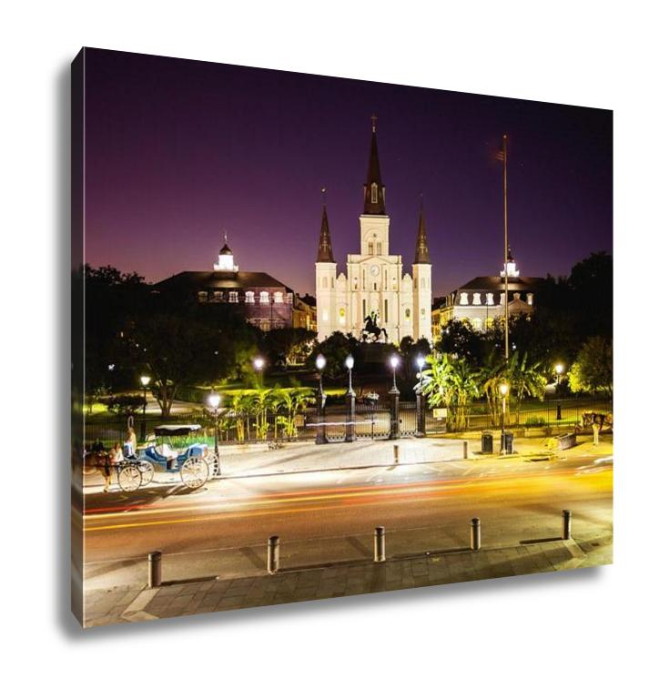 Gallery Wrapped Canvas, St Louis Cathedral Jackson Square New Orleans French Quarter
