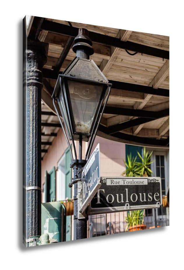 Gallery Wrapped Canvas, French Quarter Street Sign