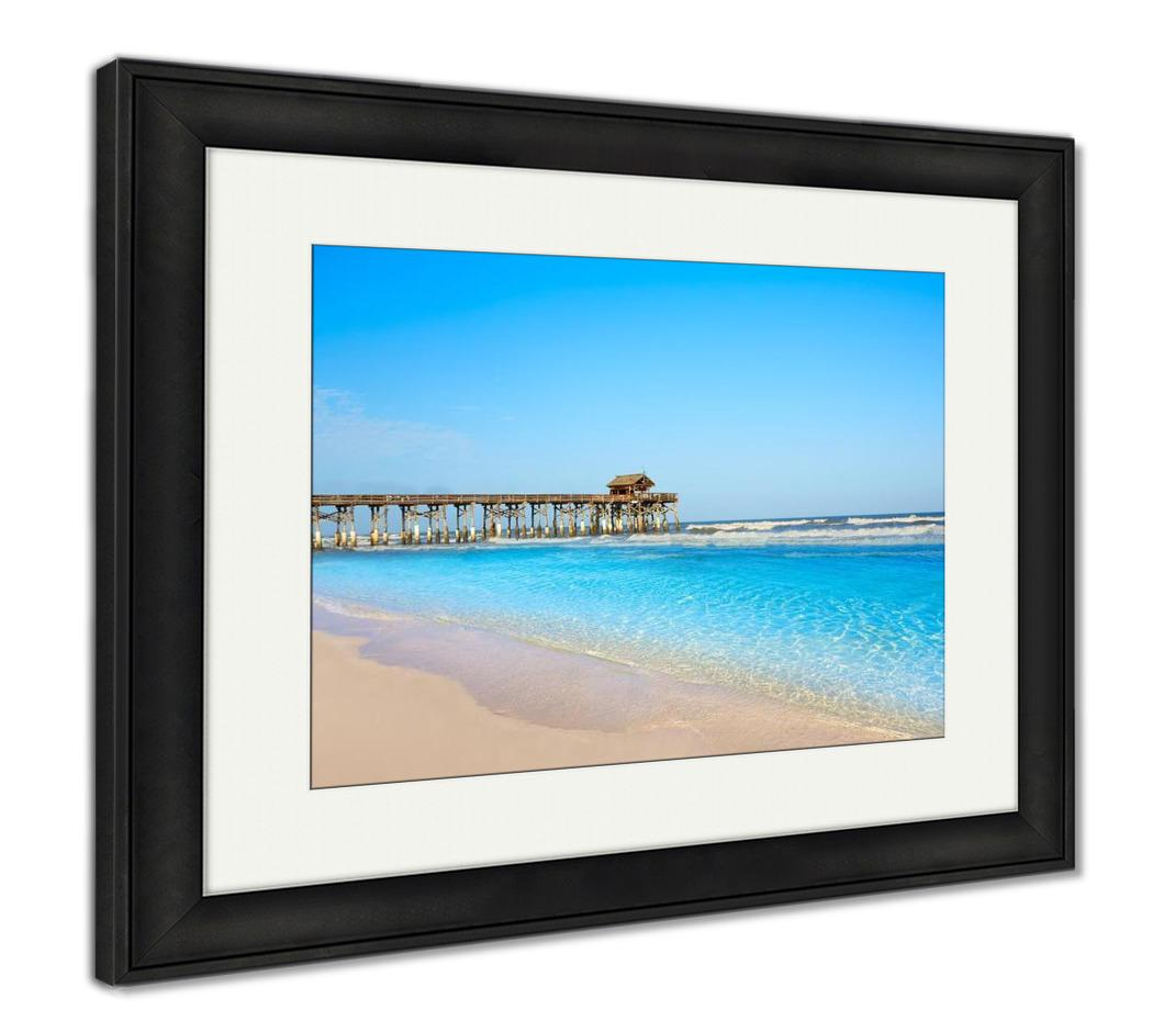 Framed Print, Cocoa Beach Pier In Cape Canaveral Florida