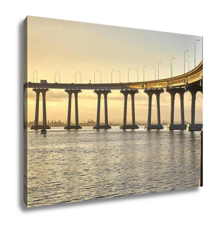 Gallery Wrapped Canvas, Curved Section Of The Landmark Coronado Bridge