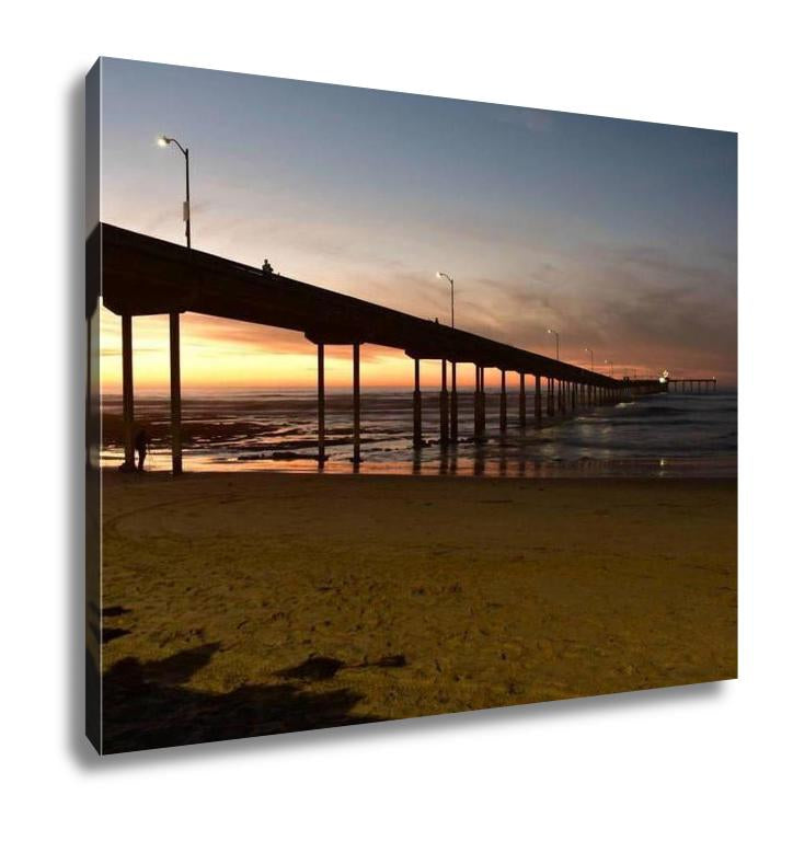 Gallery Wrapped Canvas, Ocean Beach Pier In San Diego