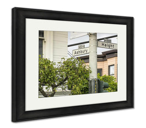 Framed Print, Street Sign At The Famous Haight And Ashbury In San Francisco