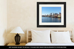 Framed Print, A View On Seattle Downtown From The Waters Of Puget Sound