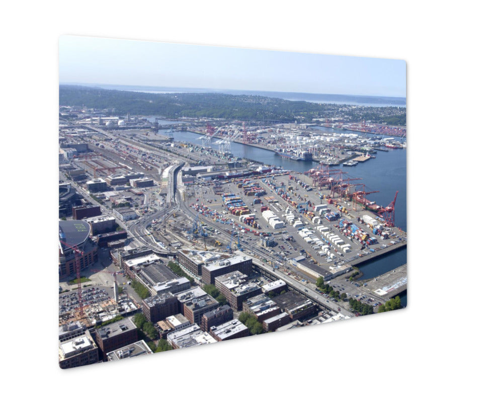 Metal Panel Print, Port Of Seattle Washington State