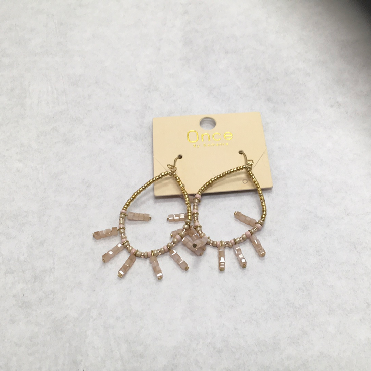 Teardrop And Bar Earrings