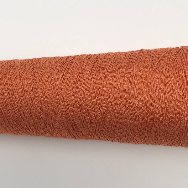 Silk Stainless Steel - 1/20 - Orange - Fibre Maven & Va Va Valoom Handwoven