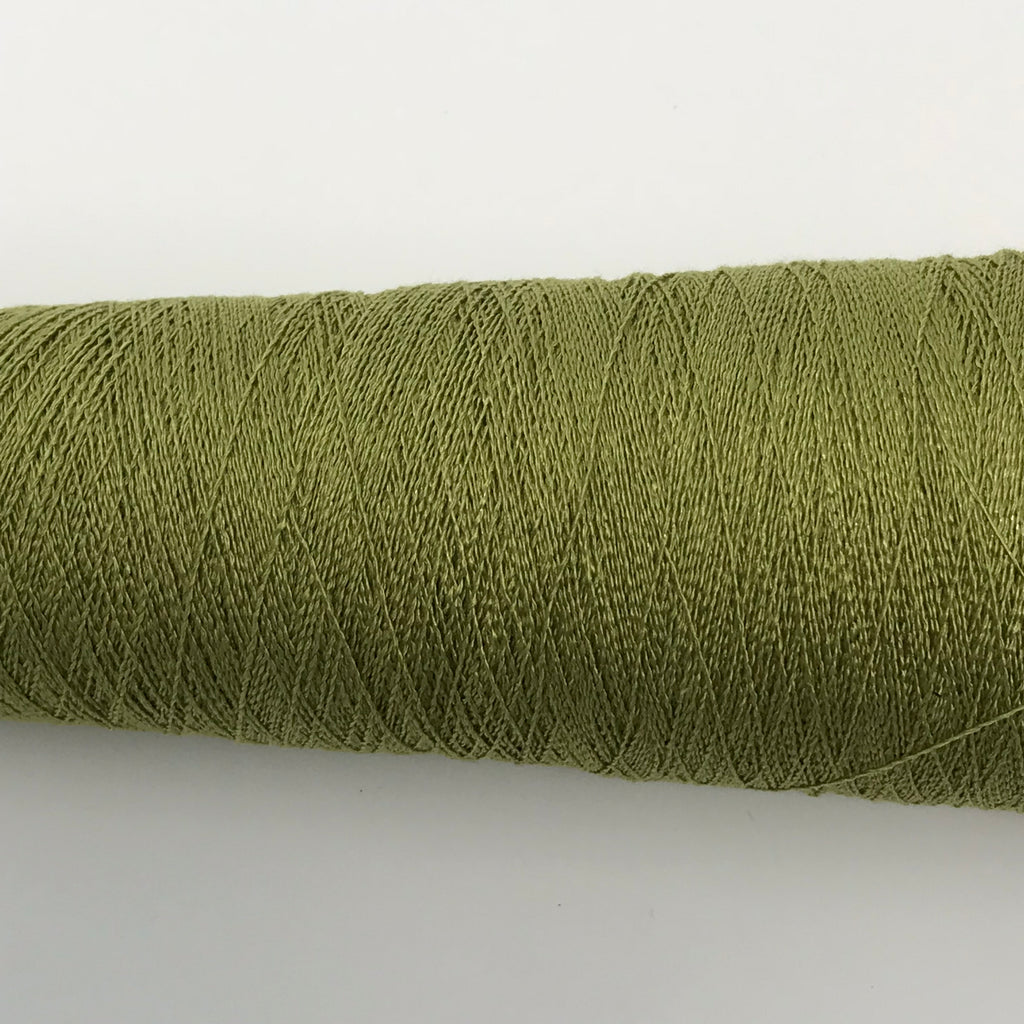 Silk Stainless Steel - 1/20 - Tea Green - Fibre Maven & Va Va Valoom Handwoven