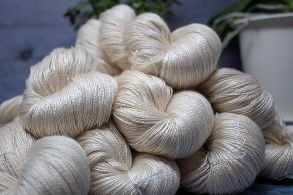 Silk / Superfine Merino / Sea Cell -  Marine Silk - Lace Weight
