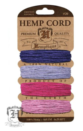 Hemp Cord Kit - Berry Bar - Fibre Maven & Va Va Valoom Handwoven