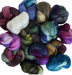 Nubecite Assorted Colours - Merino Unspun Top