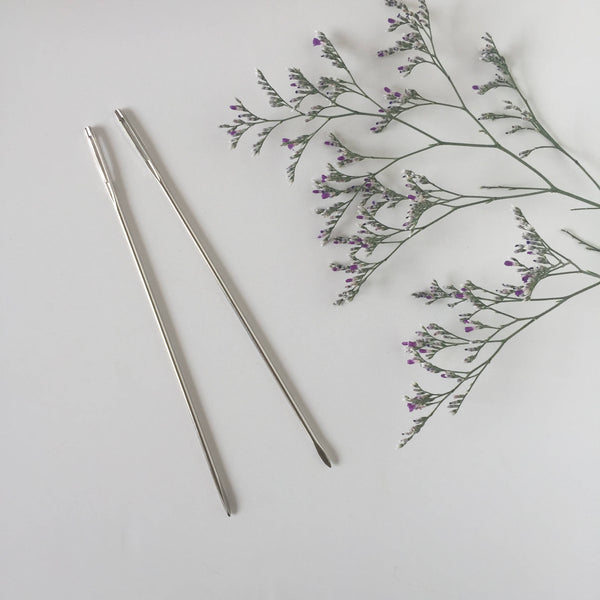 FunemStudio Set of 2 Large Metal Weaving Needles