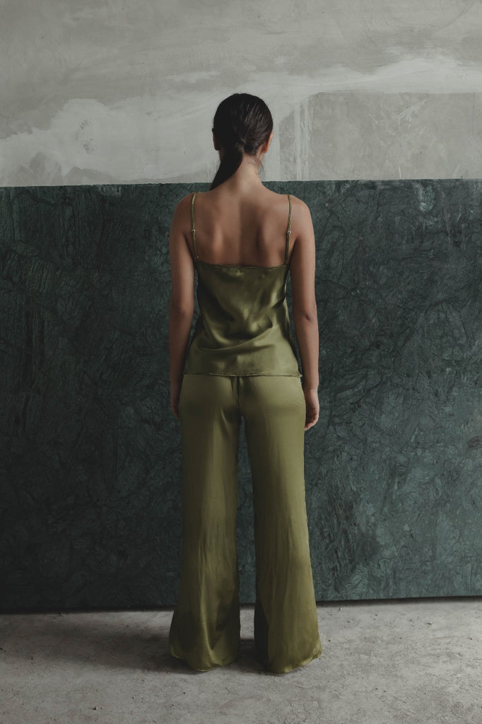 THE GERTRUDE CAMISOLE - OLIVE