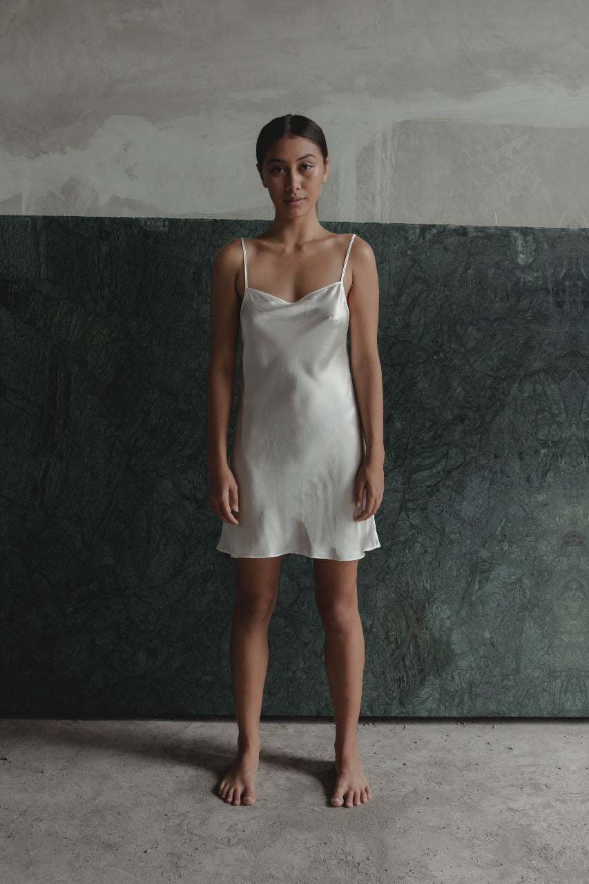 THE GERTRUDE MINI DRESS - WHITE