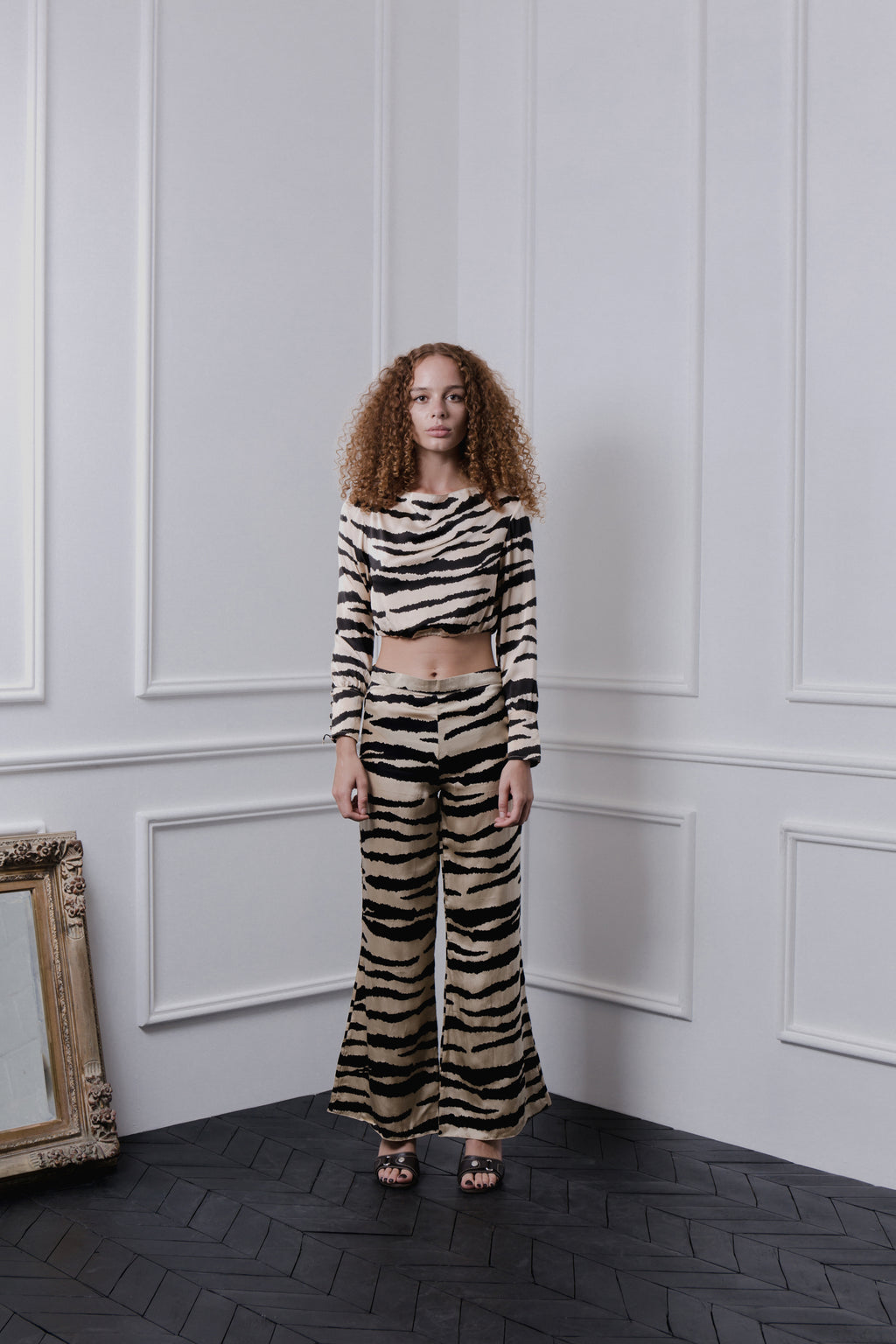 THE GERTRUDE WIDE LEG PANTS - TIGER