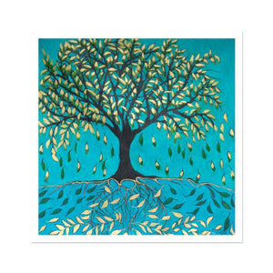 Life of a Tree: Falling Leaves, Fine Art Print on Hahnemühle German Etching Paper - Norlynne Coar Fine Art