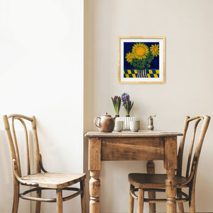 Art in the Time of Corona: Sunflowers in a Vase (12x12) - Norlynne Coar Fine Art