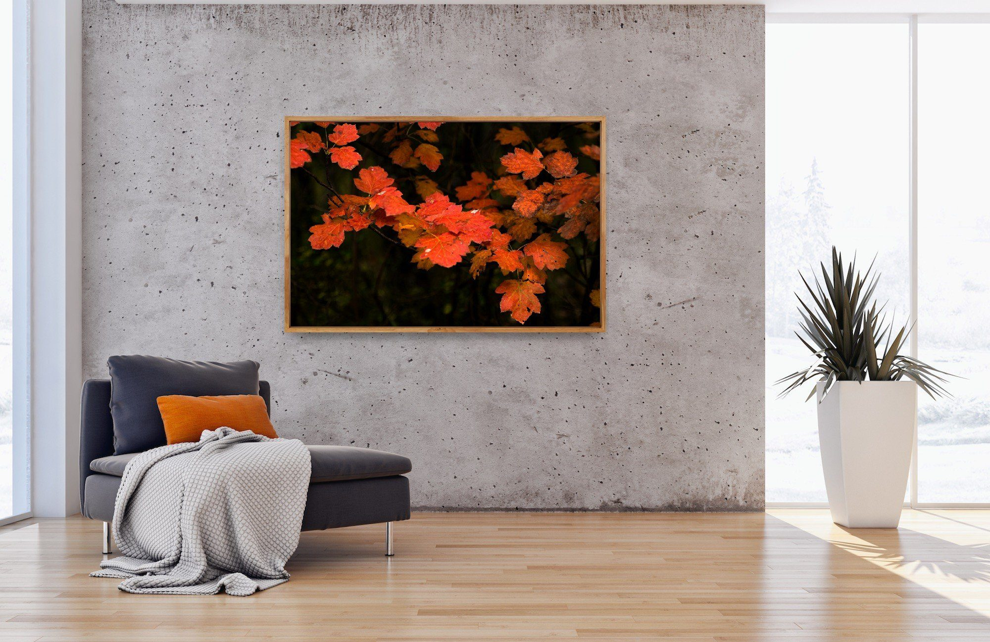 "Red Leaves (30""x45"" or 24""x36"") - Norlynne Coar Fine Art"