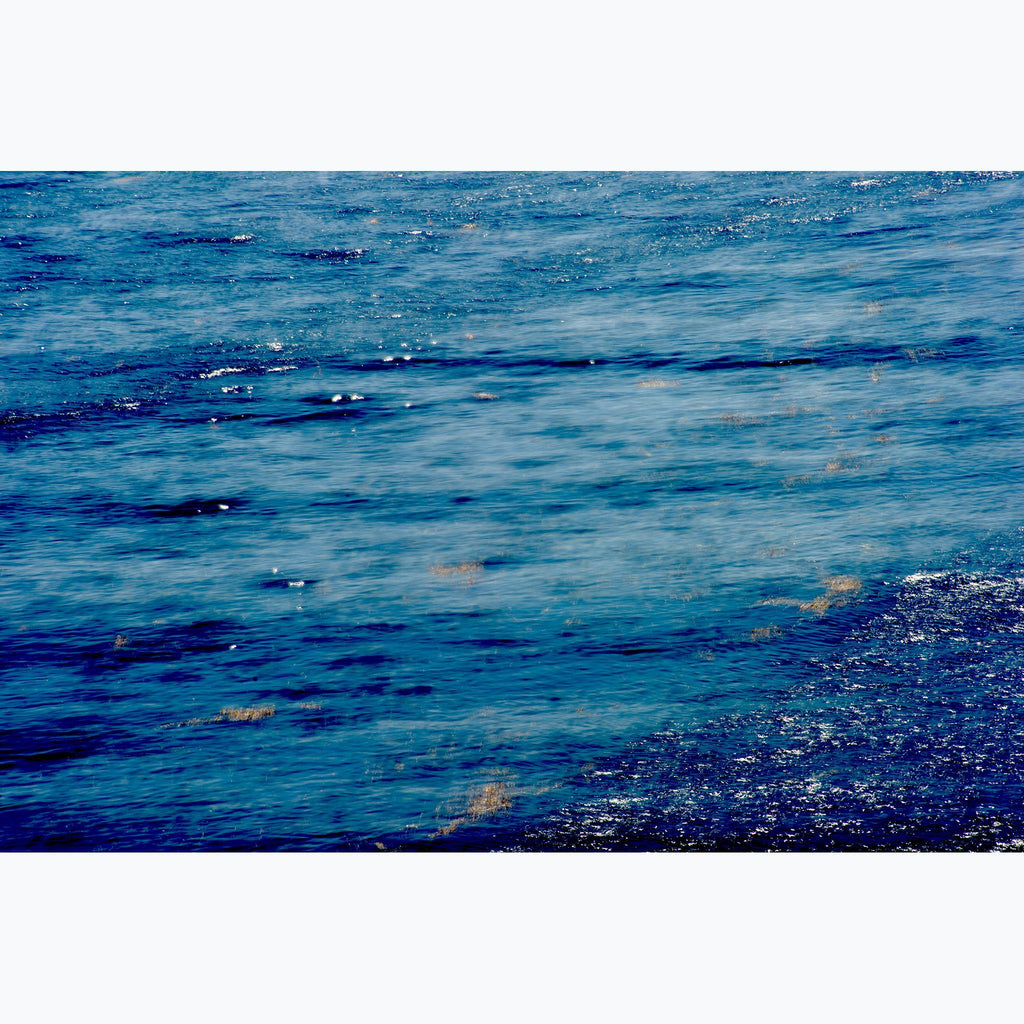 Blue Bay, Custom Archival Pigment Prints, aquas and blues, ripples on the ocean