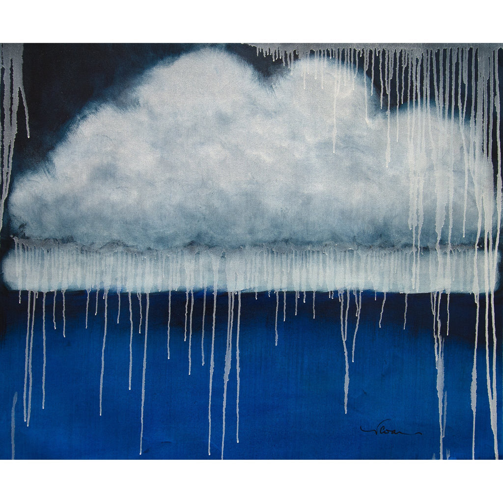"Cloud, Sea, Rain (30""x36"") - Norlynne Coar Fine Art"