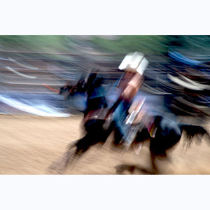 Cowboy in Motion, 35mm, Taos Rodeo, 2018.