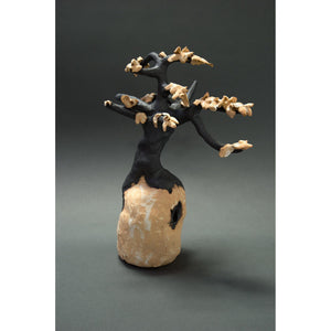 "View 2: Gold Tree, clay sculpture, 13.5""x10""x6"""