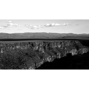 "Rio Grande Gorge with Deep Shadow (20""x36"") - Norlynne Coar Fine Art"