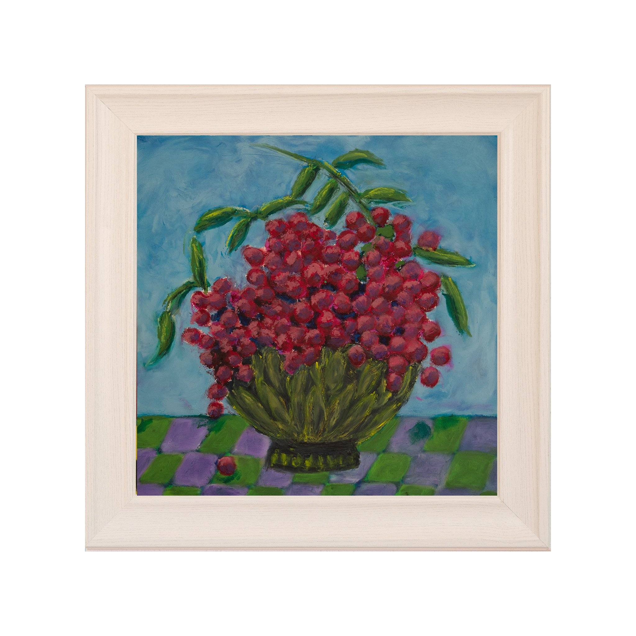"Bowl Full of Grapes, Oil Painting (14""x14"") - Norlynne Coar Fine Art"