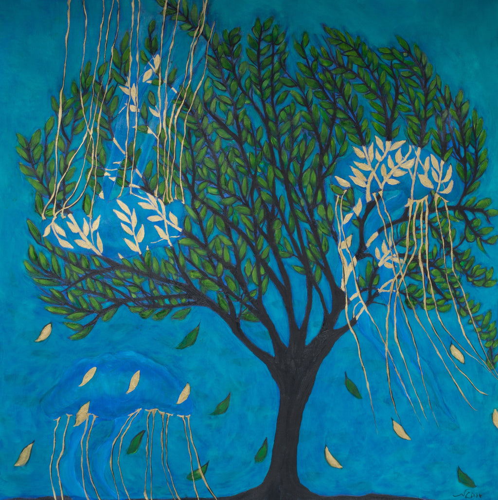 "Life of a Tree: Underwater (36""x36"") - Norlynne Coar Fine Art"