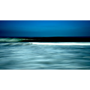 Morning Edge of Light, wave, surf, blue, California, green, photograph