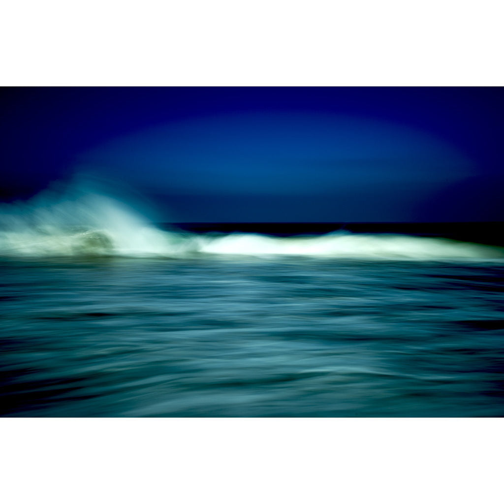 Morning Spray, wave curls, spray, blue, aqua, green, white, indigo, California, photograph, surf