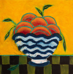 ART IN THE TIME OF CORONA: NECTARINES IN A BOWL - Norlynne Coar Fine Art