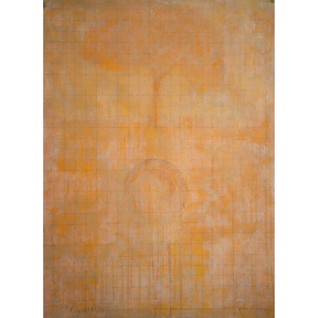 "Palimpsest II, oil on Arches 100% rag oil paper, 30""x22""."