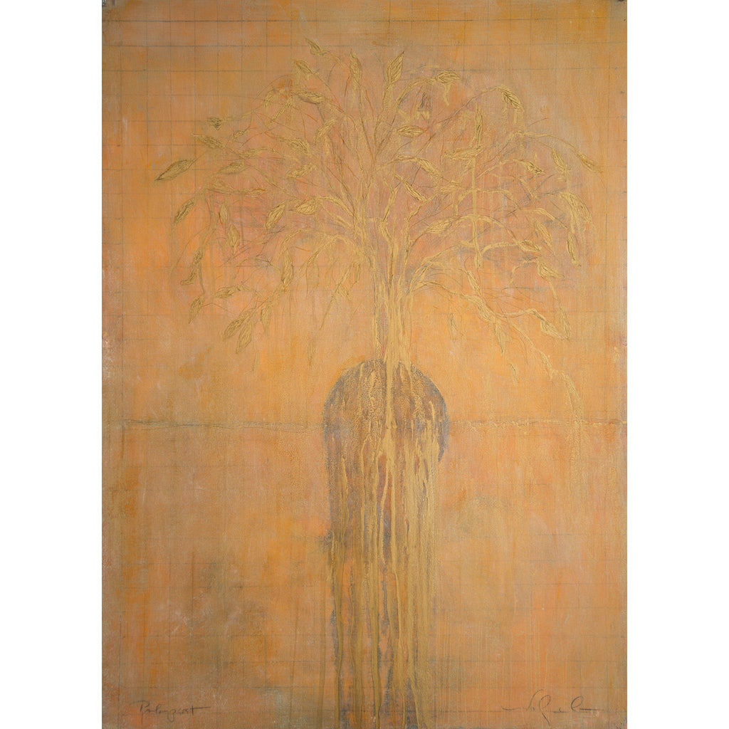 Life of a Tree: Palimpsest 2019, oil on Arches 100% rag oil paper.