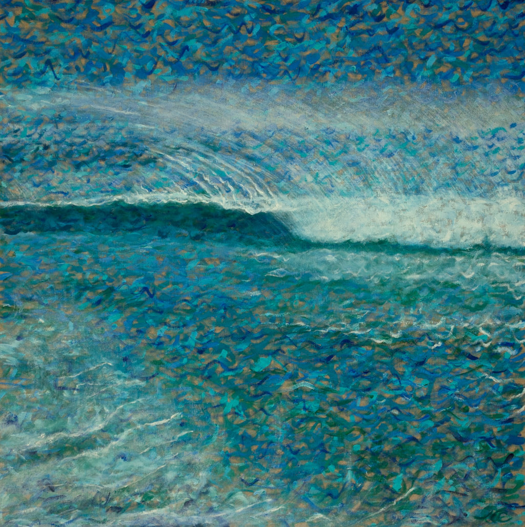 Wave Spray (22.4x22.4) - Norlynne Coar Fine Art