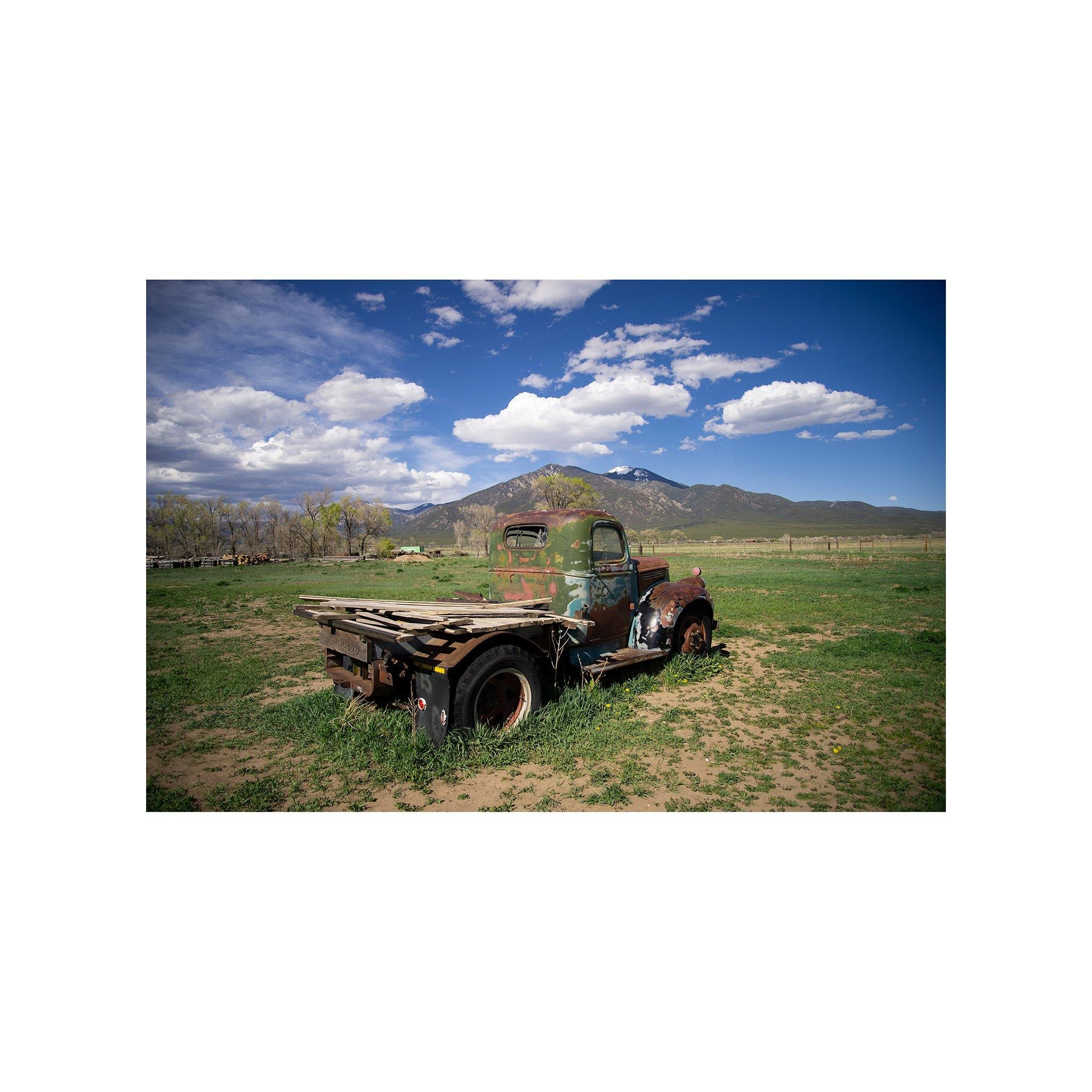 "Four Seasons of the Truck at Overland Ranch (suite of four images 11""x14"" each) - Norlynne Coar Fine Art"