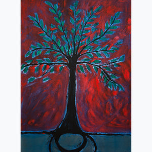"Tree of Life, Unique Print on Paper (24""x18"") - Norlynne Coar Fine Art"