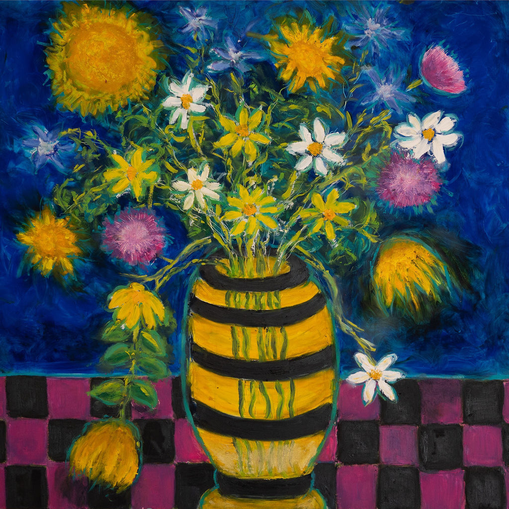 ART IN THE TIME OF CORONA: WILD FLOWERS IN A VASE - Norlynne Coar Fine Art