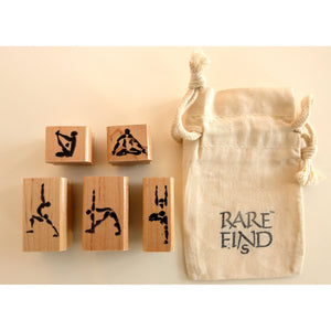 Custom Rubber Stamps with Yoga Asana Designs - Norlynne Coar Fine Art