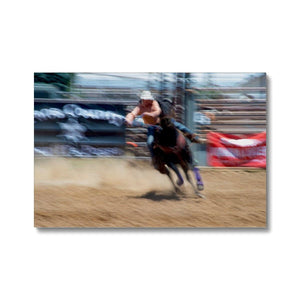 Rodeo Kids: Leaning In, Fine Art Print on Canvas - Norlynne Coar Fine Art